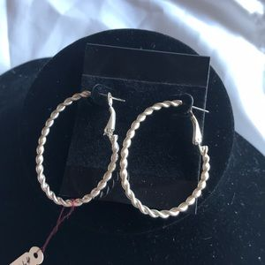 """Jewelry - 2"""" drop Twisted, oval light-weight Hoops"""
